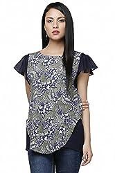 Dernier Wear Women's Round Neck Shirt Blue-M