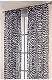 1kidandaheadache 2pc Animal Safari Zebra Printed Voile Elegant Sheer Panels 60x84 Fully Hemmed