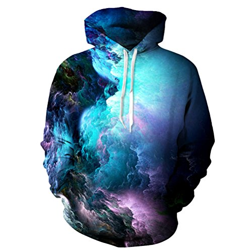 Cool Hooded 3D Printed Sweatshirt