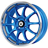 "Konig Lightning Blue Wheel with Machined Lip (15x7""/4x100mm)"