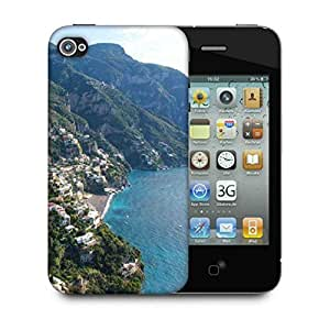 Snoogg White Clouds Designer Protective Phone Back Case Cover For Apple Iphone 4