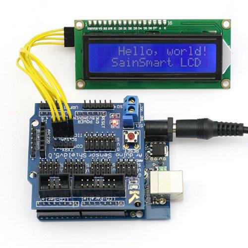 Sainsmart C38 Kit With Uno + Sensor V5 + Iic Lcd1602 Module Display For Arduino Uno R3 Mega Mega2560 Nano Due Duemilanove Avr Atmel Robot Xbee Zigbee