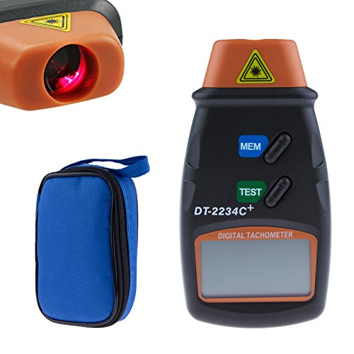 Sunsbell®Professional Digital Laser Tachometer Non-Contact Rpm Tach With High Accuracy Measurement