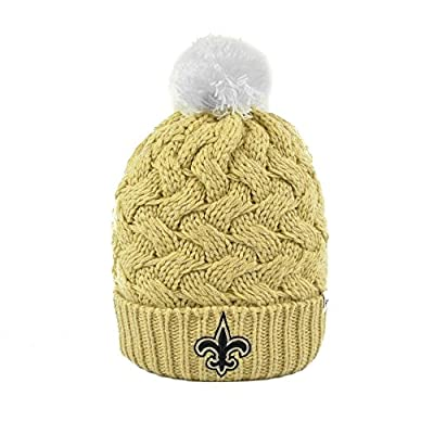 Women's Knit New Orleans Saints Beanie Crochet Hat