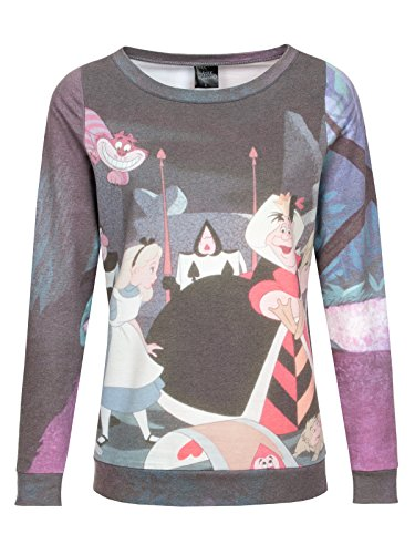 Walt Disney Alice in Wonderland - Garden Felpa donna stampa allover M