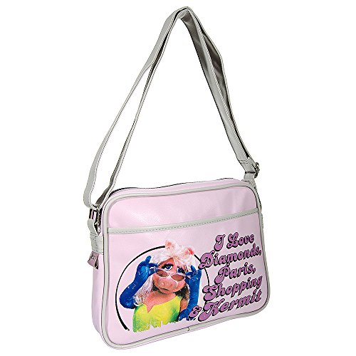 The Muppets Miss Piggy Bag, pink. Official design made from soft faux leather