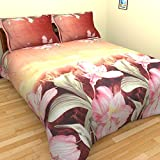 Home Creations Floral Pattern Poly-Cotton Double-Bedsheet With 2 Pillow Covers