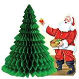 Santa w/Tissue Tree Centerpiece Party Accessory (1 count) (1/Pkg)