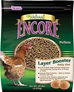 F.M. Brown's Encore Natural Egg Layer Booster Daily Diet for Pets, 20-Pound