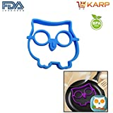 KARP™ Owl Shape Silicone Fried Egg Mold Pancake Rings, Non Stick Bakeware Accessories Kitchen Tools,BPA Free,...