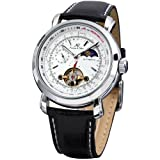 KS Luxury Tourbillion Moon Phase Automatic Mechanical White Dial Mens Wrist Watch