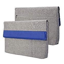 Surface Pro 3 / Surface Pro 4 Sleeve, GMYLE Sleeve Cushion for Microsoft Surface Pro 3 / Surface Pro 4 - Charcoal Grey & Blue Soft Sleeve Bag Case Cover