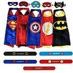 Ecparty 5 Different Superheros Cape a...