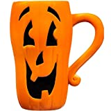 4 Pack 16 oz. Halloween Character Ceramic Latte 3-D Mugs; Includes these faces: Ghost, Pumpkin, Witch & Frankenstein!
