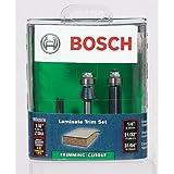 Bosch RBS020XW 3 Piece 1/4-Inch Shank Laminate Trim Router Bit Set