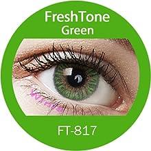 Lente de contacto de color Green 3tons 12meses sin Correction