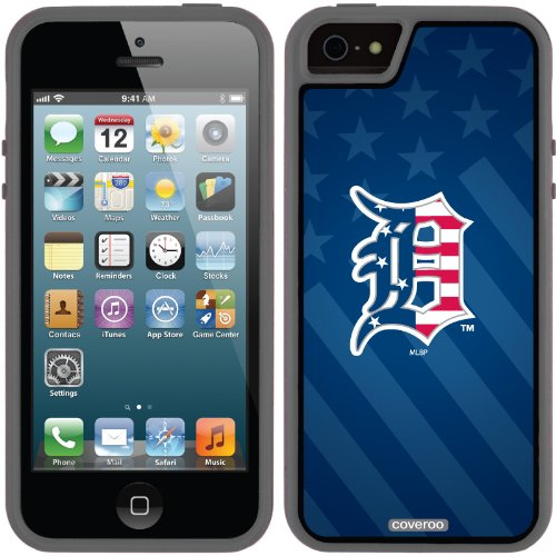 Great Price Detroit Tigers - USA Blue design on a Black iPhone 5s / 5 Guardian / Ruggedized Case by Coveroo