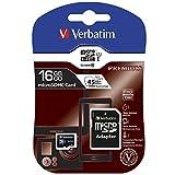 Verbatim バーベイタム 16GB UHS-I microSDHCカード フルHD 高速ビデオ SDアダプター付く(最大読出スピード:300X - 45MB/s)