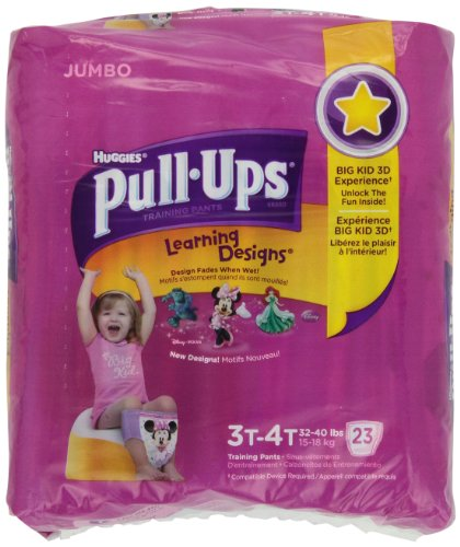 PULL-UPS GIRLS TRAINING PANTS 3T/4T