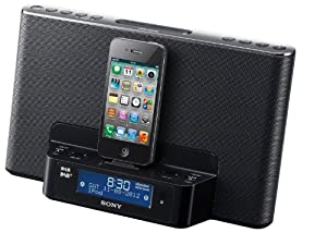 Sony Clock Radio Dock for iPhone/iPod - Black