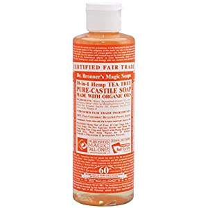 Dr. Bronner's Magic Soaps Fair Trade and Organic Castile Liquid Soap, Tea Tree, 8 Fluid Ounce