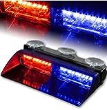 T Tocas(tm) Car 16 led 18 Flashing Mode Emergency Vehicle Dash Warning Strobe Flash Light Red Blue