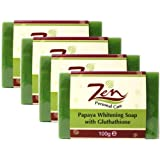 Zen Personal Care's Papaya Whitening Soap Gluthathione Pack 4  100gms eaby Zen Personal Care