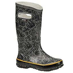 Bogs Pirate Rain Boot (Toddler/Little Kid/Big Kid), Grey,13 M US Little Kid
