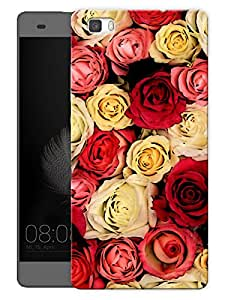 """Humor Gang Multi Colored Roses Love Printed Designer Mobile Back Cover For """"Huawei P8"""" (3D, Matte, Premium Quality Snap On Case)"""
