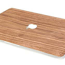 GMYLE Genuine Walnut Wood Skin Cover Decal for Macbook Air 13 (Model: A1369/ A1466)