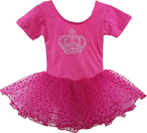 Girl Ballet Dress Girl Bow Leotard Ballet tutu Costume Diamond Crown Dance Dress