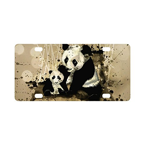 Animal License Plates - Panda License Plate