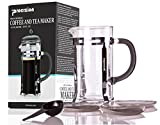 Procizion 34 Oz French Press - Durable Coffee, Espresso and Tea Maker with Triple Filters, Stainless Steel Plunger and Heat Resistant Glass