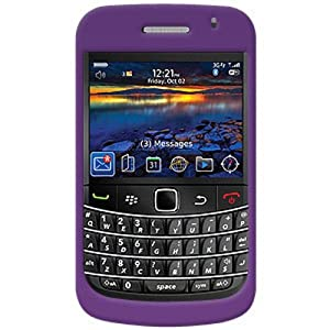 Amzer Polished Snap-On Crystal Hard Case for BlackBerry Bold 9700/Onyx 9700 - Purple