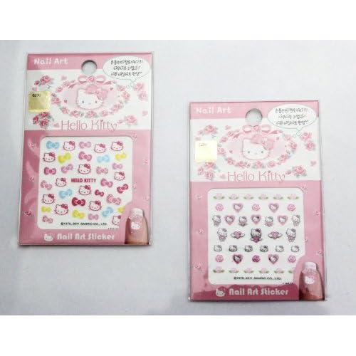 Hello Kitty Nail Art Sticker   5 pack Mixed Design