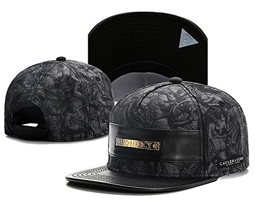 2016 NEW Fashion Men's bboy Hip Hop adjustable Baseball Snapback Hat cap Black (Gucci Hair Brush compare prices)
