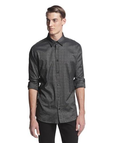 Versace Jeans Men's Striped Long Sleeve Woven Shirt