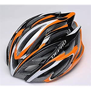 Rainbow flower Riding helmet integrally molded carbon fiber stripe men and women outdoor sports helmet bicycle helmets