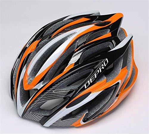Rainbow flower Riding helmet integrally molded carbon fiber stripe men and women outdoor sports helmet bicycle helmets