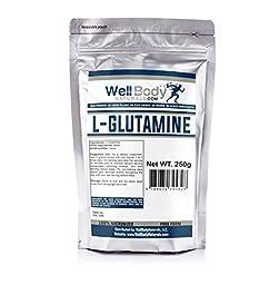WellBodyNaturals Pure L-Glutamine Powder (250 grams)
