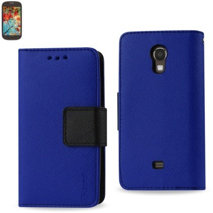Reiko 3-In-1 Wallet Case for Samsung Galaxy Light T399 – Retail Packaging – Navy