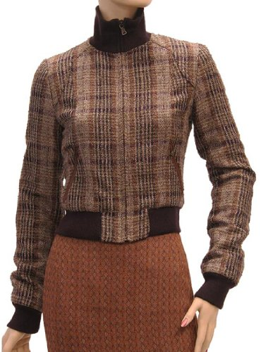 D&G Womens Jacket Coat Brown Lamb