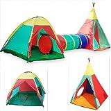 Tenda con tunnel tenda da gioco per bambini giochi d' avventura igloo tenda d' indiani per campeggio giardino