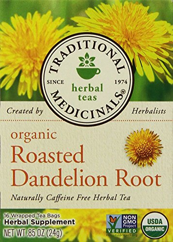 Traditional Medicinals Organic Roasted Dandelion Root Herbal Tea 2-Pack;32 Count. - 1