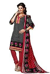 HIFI Ethnicwear Women's Dress Material(HIFI 3413_Black_Free Size)