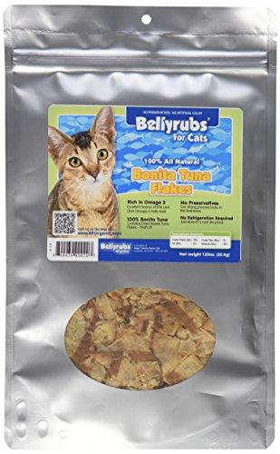 Bellyrubs Organic 1-1/4-Ounce All Natural Cat Treats, Bonita Tuna Flakes