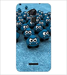 PrintDhaba Smilies D-2799 Back Case Cover for COOLPAD NOTE 3 LITE (Multi-Coloured)