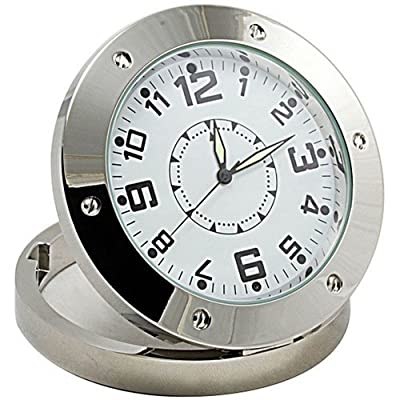 Real Working Clock Hidden Motion Detection DVR Spy Camera with 4GB microSD Card