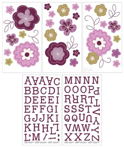 Nojo Wall Decals, Pretty In Purple