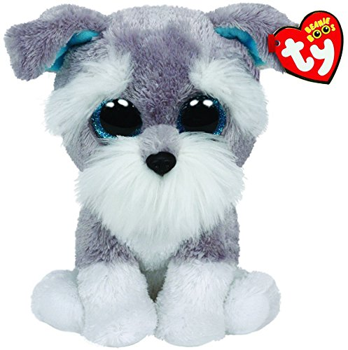 Ty Classic Whiskers The Grey Schnauzer Dog Plush